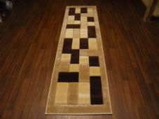 Modern Runners 60x220cm Aprox 8ft Hand Carved Super Quality Blocks Design Beiges